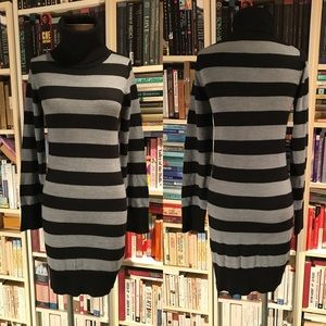 French Connection FCUK Striped Sweater Dress Tunic